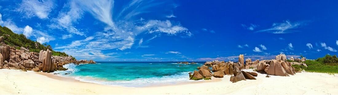 Utsikt over en strand på Mallorca