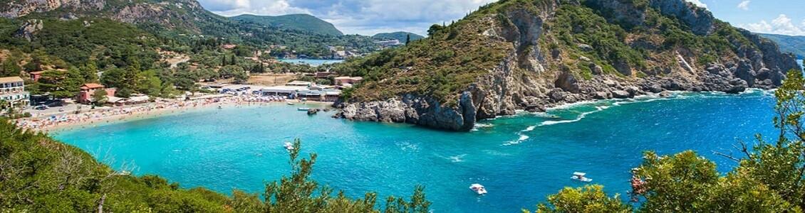 Utsikt över en badvik på Mallorca