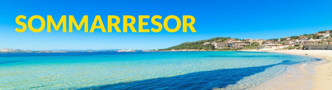 Utsikt över en strand på Mallorca