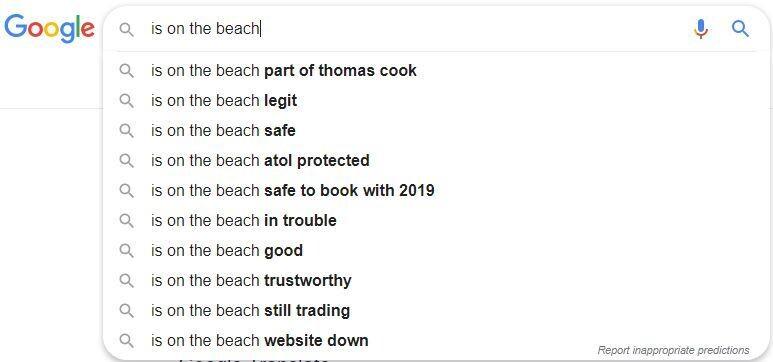 is on the beach
