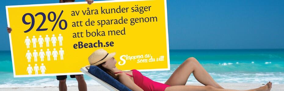 Få mer semester för pengarna när du bokar med eBeach.se
