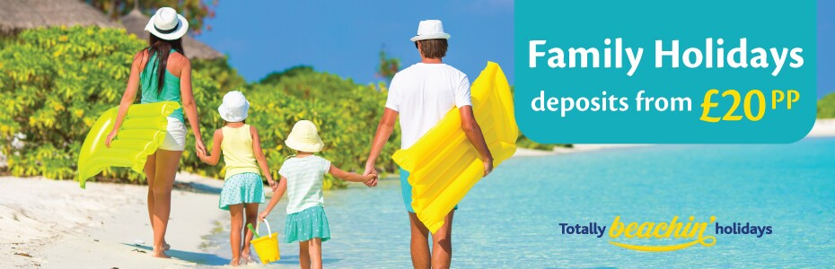Family Holidays with deposits from £20pp