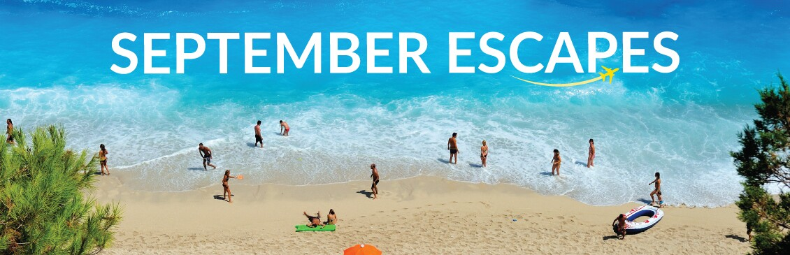 September Holidays  With On The Beach