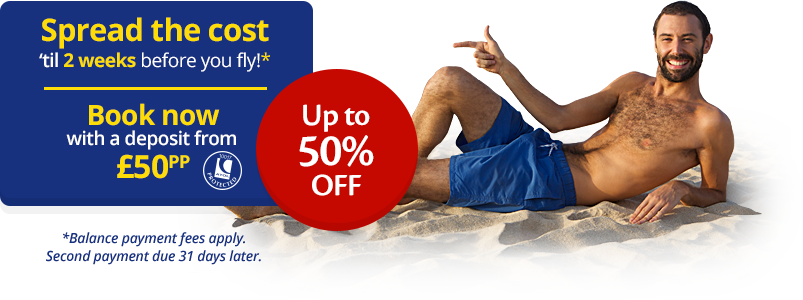 Up to 50% off and from just £50pp deposit.