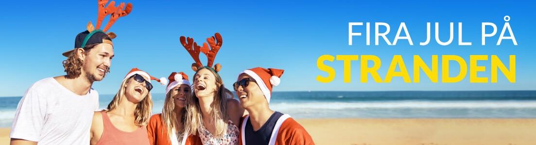 Fira jul på stranden