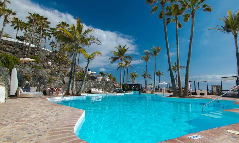 Hotel Jardin Tropical - Costa Adeje, Tenerife   On the Beach