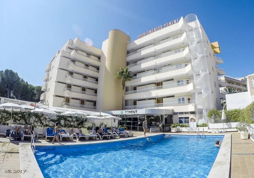 Apartamentos Ponent In Paguera Majorca On The Beach