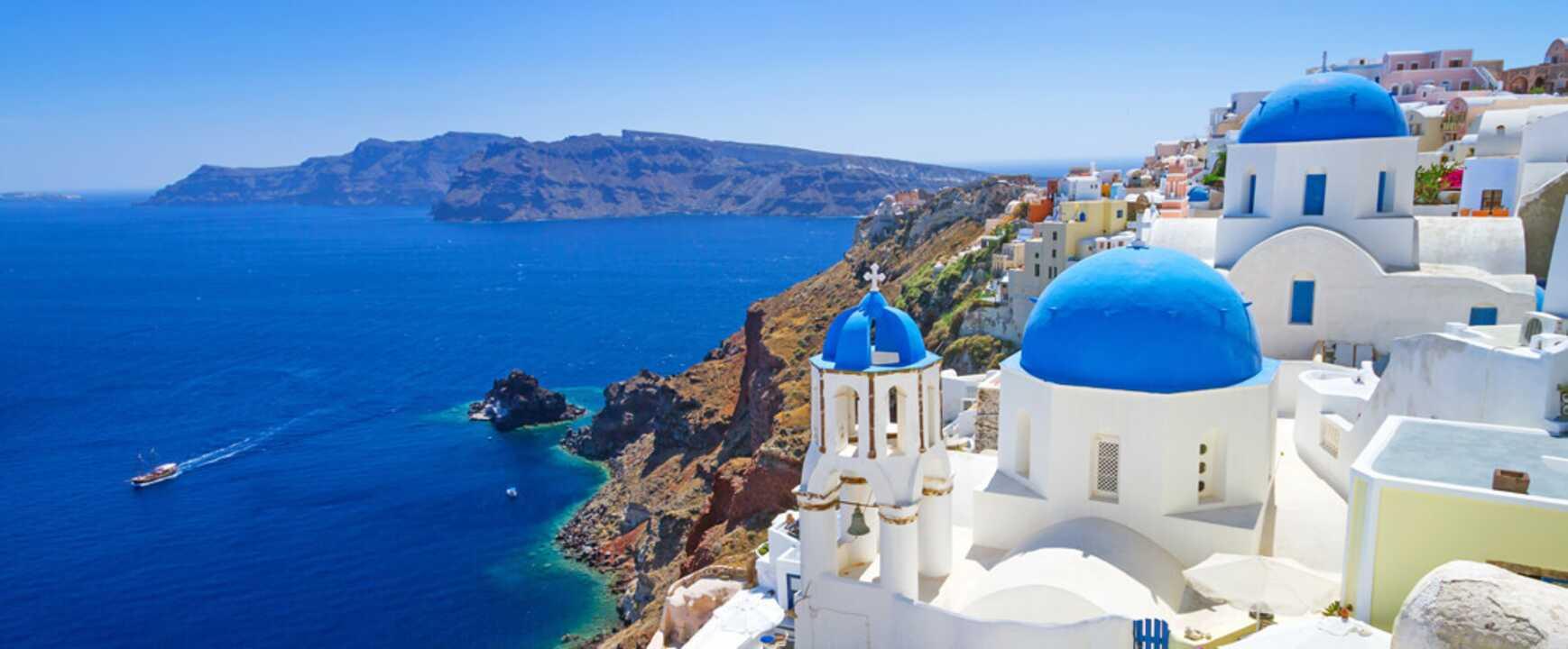 Reis på ferie til Santorini